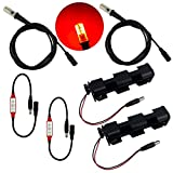 Red LED 2 kits flame lighting with flicker effects control 12V DC and 5 foot cable sockets - simulation of fake fire flames coal for props theatrical scenery escape rooms lanterns torches