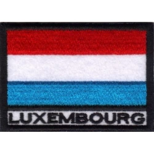 MAREL Aufnäher Luxemburg Flagge 7 x 5 cm Stickerei Luxembourg -032