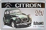 Plaque en tôle pour Citroën 2 CV Canard Voiture ancienne 30 x 20 cm