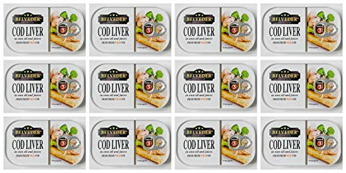Wild Cod Liver Canned 120g can From Iceland pack of 12