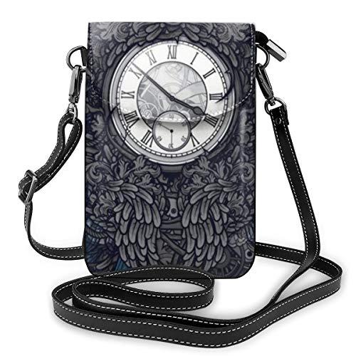 FIRS Time Travel Gear - Mini orologio da taschino in pelle, a tracolla, da donna, per attività all'aperto, escursionismo, sport