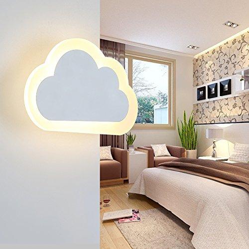 YU-K De wandlampen LED-lampen slaapkamer kinderen jongens en meisjes ogen warme wolken creatieve kinderen wandlamp studie