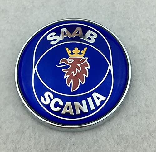 Bilklistermärke emblem 1 st 68 mm bilmärken kompatibla med SAAB Scania främre eller baklucka modifierad huva emblem dekal tillbehör klistermärke 12785870 12785871 bilemblem (färg: Blå scania baklucka)
