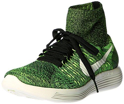 Nike Herren Lunarepic Flyknit Laufschuhe, Schwarz/Kalk/Grün (Schwarz/Schwarz-Volt-Gift-Grün), 49 EU