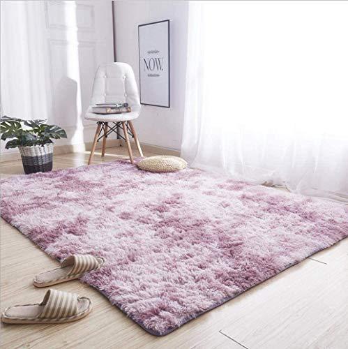 Alfombras ultra suaves para interiores, interiores y suaves Alfombras de sala de estar aptas para niños Dormitorio Decoración para el hogar Alfombras de dormitorio 60 * 120 cm (Gradiente púrpura rosa)