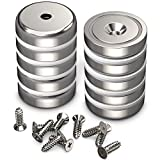 GREATMAG Cup Magnets, Industrial Strength Round Base Magnets, 100 lbs Holding Force, 1.26 ...