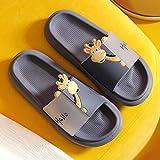 WENHUA Zapatos de baño Zapatos de PlayaSandalias de Baño, Zapatillas de baño de Mujer con Estampado de Jirafa Love, Azul Gris_42-43