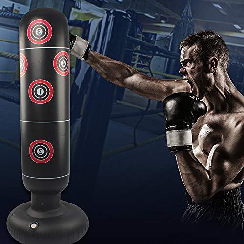 Beenle-Icey Saco de Boxeo 160CM Hinchable de Pie para Adultos y Adolescentes para Entrenamiento Intenso Gimnasia Deportes Alivio del Estrés