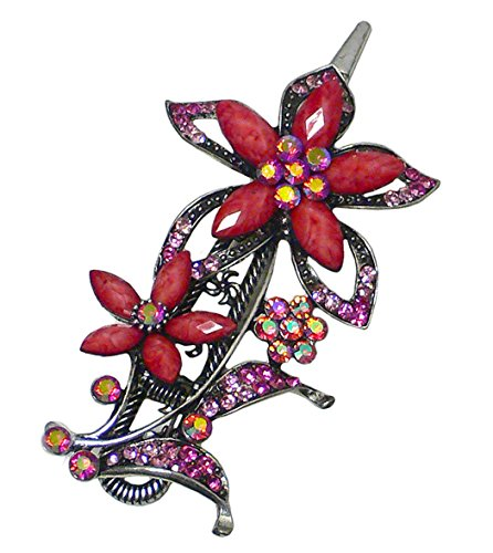 Bella Fleur Fourchette Clip décoré avec collier de serrage pour un Look Glamour