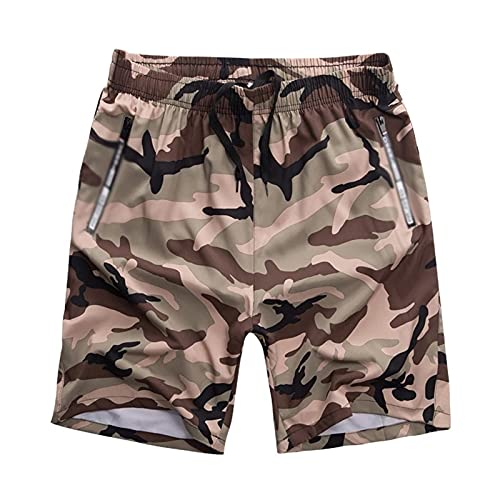 Pantalones cortos de playa para hombre de verano casual sueltos y de secado rápido boxeador pantalones cortos de cinco puntos junto al mar vacaciones camuflaje Junta corta ropa