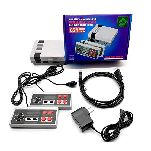 Sorlakar Retro Game Console with Builtin 621 NES Games Classic Video Game Console for Kids AdultsDual Controllers Support 2 Players ModeHDMI HD Output Plug and Play for Christmas Birthday Gift
