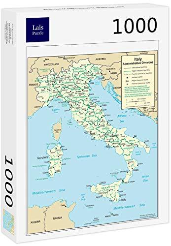 Lais Puzzle Mappa Italia Amministrazione 1000 Pezzi