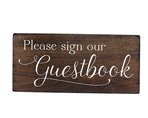 Guest Book Sign Wooden for Wedding, Cabin, Beach or Rental House by Elegant Signs