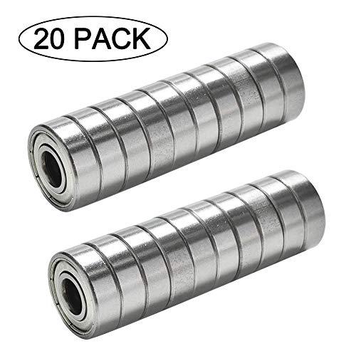 TUZUK Miniatur-Kugellager für Rollschuhe, 8 x 22 x 7 mm, 20 Stück