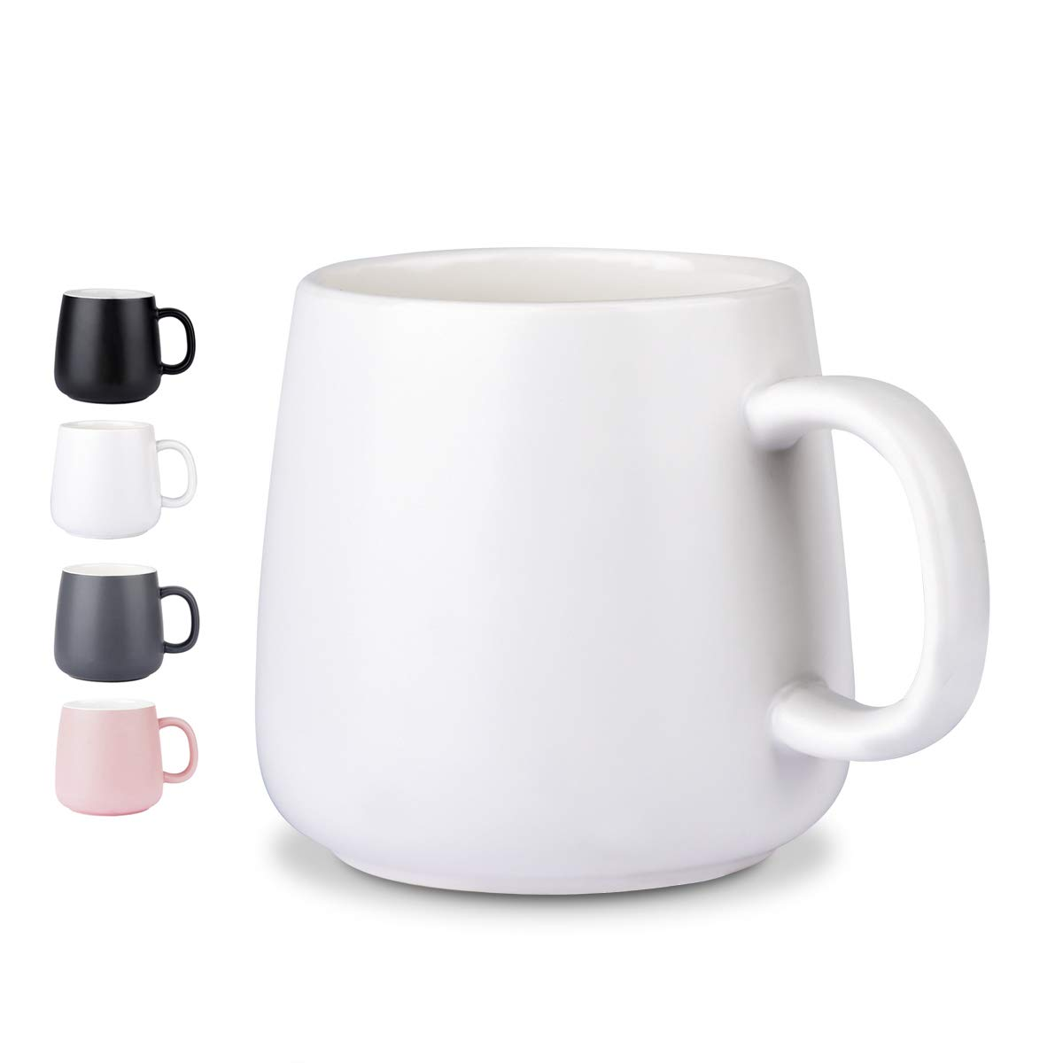 NEWANOVI Ceramic Cup Smooth Frosted Porcelain Mug, Coffee