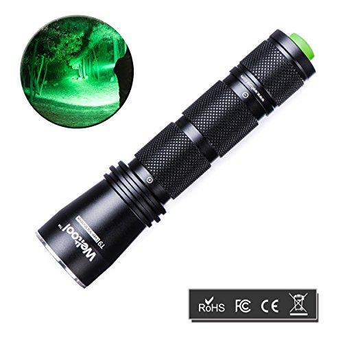 Weltool GRÜN-LICHT LED Taschenlampe Jagd Taschenlampe 522 nm Wellenlänge Professionelle Taktische Taschenlampe für Wandern, Camping, Selbstverteidigung, Suche, Jagd, tägliche Beförderung, Nachtfischen