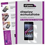 dipos I 2X Schutzfolie klar kompatibel mit Sony Xperia Z1 Compact Folie Bildschirmschutzfolie