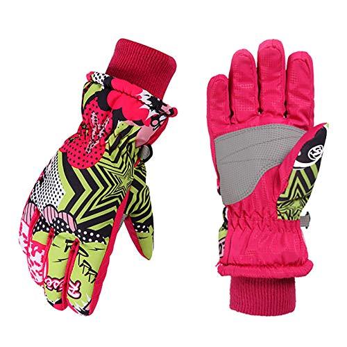 Winterhandschuhe für Kinder Handschuhe Warme Skihandschuhe wasserdichte und Winddichte Verdickt Winterzeit Handschuhe Geeignet für Jungen und Mädchen im Outdoor Sport