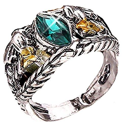Inception Pro Infinite Rgrn - Aragorn Ring El señor de los Anillos con Piedra Verde - Idea de Regalo para el Hombre
