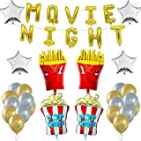 MOLECOLE 48pcs Movie Night Themed Party Decoration,Birthday Party,Movie Party Supplies for Hollywood or Movie Time Theme Event Movie Theater Party