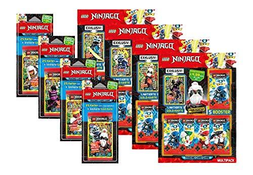 Lego Ninjago - Serie 5 Trading Cards alle 4 Blister und alle 4 Multipacks
