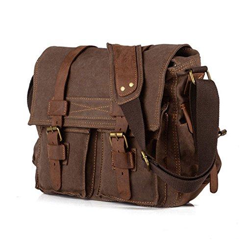 BW Vintage Military Herren Messenger Bag (Braun)