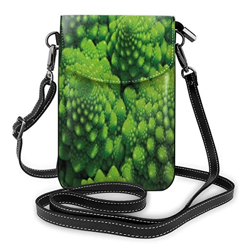 Jiger Women Small Cell Phone Purse Crossbody,Broccoli Kale Mother Earth Herbs Themed...