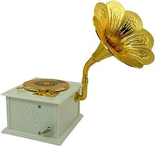 ToiM la melodía fonógrafo Caja de música Mecanismo de Color Blanco Caja de música con cajones