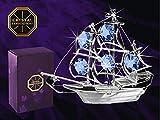 Crystal Temptations – Figura decorativa de barco de vela adornada con cristales de...
