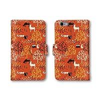 【ノーブランド品】 URBANO L02 KYY22 スマホケース 手帳型 動物 イラスト リス ウサギ レッド 赤 かわいい おしゃれ 携帯カバー KYY22 ケース 携帯ケース アルバーノ