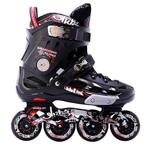 Adults Inline Skates,Professional Roller Skates for Men's,Lightweight Roller Blades for Women's,Comfortable Triple Protection,Great for Beginners,A,7.5 UK/42 EU