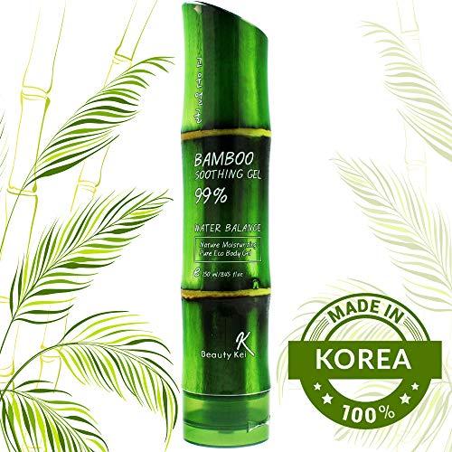 Bambus Gel 100% BIO für Gesicht, Haare und Körper Stärkt schwache Nägel und ausfallendes Haar Spendet intensiv Feuchtigkeit Pflegt und regeneriert gereizte Haut Vegan, Rein und Natürlich