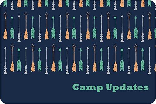 "Drawn Arrows Camp Postcards   Kid Postcards   Camp Stationery   6"" X 4"" Postcards for Kids"