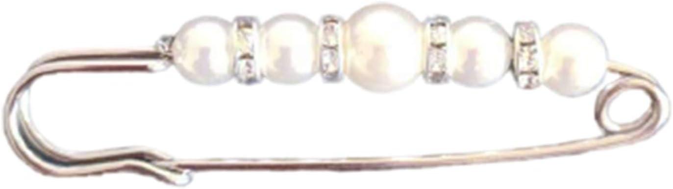 EMFGJ Vintage simulierte Perlenbrosche Gro/ße Sicherheitsnadeln Perlen Pin oder Pullover Schals Kragen Kleider und die meisten Kleider,Gold