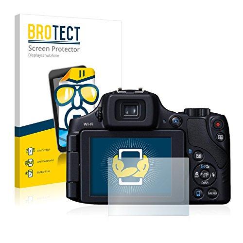 BROTECT Protector Pantalla Compatible con Canon PowerShot SX60 HS Protector Transparente (2 Unidades) Anti-Huellas