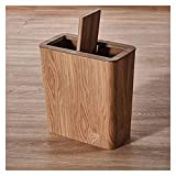 Papelera de madera de la basura de madera, baño de la sala de...