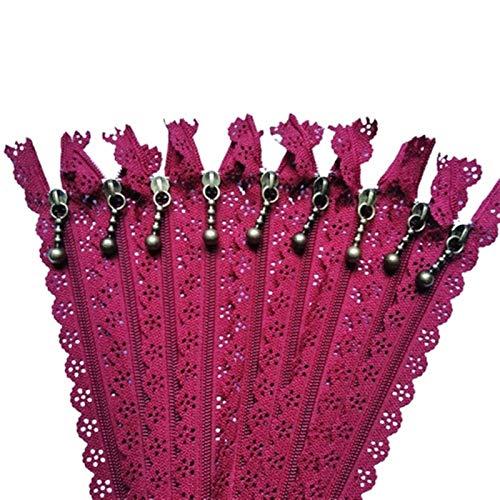 DZJUKD 20pcs 25 cm 10 Pulgadas DIY 3# Cremallera de Flores de Bobina de Nylon para la artesanía de la Sastre de Costura de Bricolaje para Reparar Abrigos de Jeans
