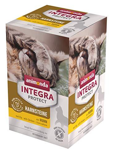 animonda Integra Protect Harnsteine, Spezial-Katzenfutter, Nassfutter zur Vorbeugung eines Harnweginfekts, mit Huhn , 6 x 100 g
