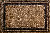ID Mat Bordures Tapis Paillasson, Fibres Coco Naturelles sur Semelle PVC, Beige, 40 x 60 x 1,5 cm