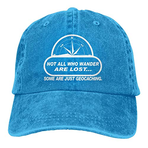 NA Transpirable Ocio Sombrero,Cómoda Sombrero De Deporte,Secado Rápido Dad Hat,No Todos Wander Lost Geocaching Hombres O Mujeres Vaqueros Ajustables Gorras De Béisbol