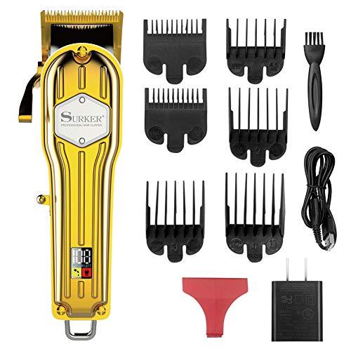 Aparador de pelos Surker masculino aparador de cabelo, aparador de barba, barbeiro, corte de cabelo, kit de cuidados de cabelo, máquina profissional, recarregável, sem fio, silencioso