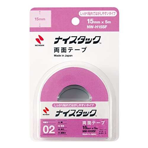 ニチバン 両面テープ ナイスタック しっかり貼れてはがしやすいタイプ 15mm NW-H15SF