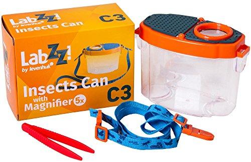 Levenhuk Frasco de Observación de Insectos LabZZ C3 para Niños con Pinzas en el Kit