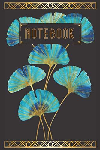 Notebook: Notebook: Luxueux carnet de notes ligné design Gingko Biloba style Art Déco pour femmes 2021 format 6*9 in (15*22cm). Design exclusif d'après une œuvre originale peinte à l'aquarelle.