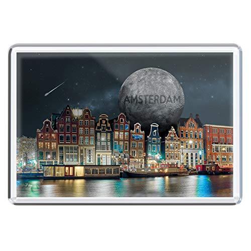 stadtecken magneten 10x7cm +++ Amsterdam motieven: Moon I Holland Nederland | koelkastmagneten I Leven & Momenten grappig I Whiteboard I Souvenir I Gift I Cadeau-idee