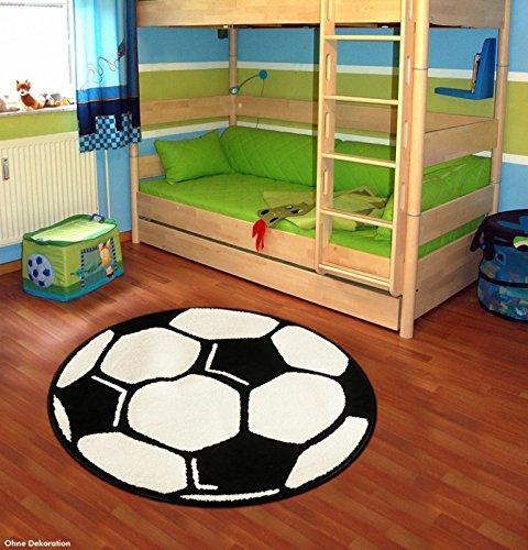 Fußball Teppich Rund Kinderteppich, Durchmesser Rund in cm:150