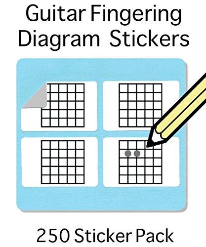 Gitarre / Mandoline Griff und Tabulatur Sticker - 250 Sticker pro Pack – Kostenloser Versand überallhin!