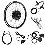 Hongzer E-bike Conversion Kits, 36V/48V 350W Motor KT900S LED Display 700C Wheel Electric