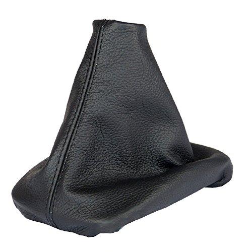 L & P Car Design L&P A0040 Funda Saco Cuero Piel Genuina Negro con Costura Negra de Palanca de Cambios Cambio Velocidad velocidades Marchas Saco de conmutación