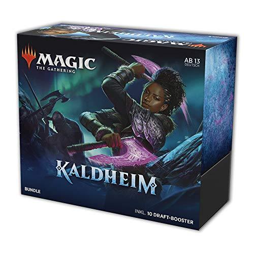 Magic The Gathering MTG-KHM-BU-DE Magic: The Gathering Kaldheim Bundle 10 Draft-Booster & Zubehör (Deutsche Version)